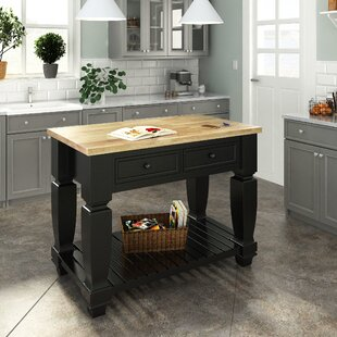 Chelsea Kitchen Island with Wood Top Lanza