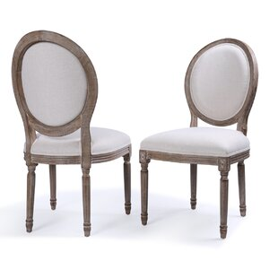 Agda Classic Elegant Traditional Upholstered Dining Chair (Set of 2)