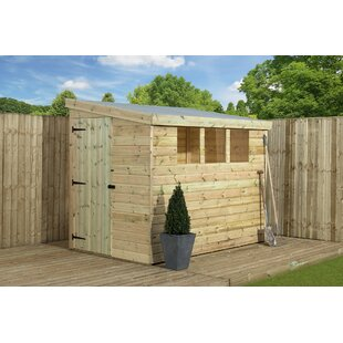 4 Ft. W X 9 Ft. D Shiplap Pent Wooden Shed By WFX Utility