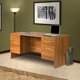 Leavy Corner Monitor Platform Executive Desk with Hutch