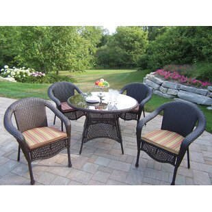 Rosecliff Heights Kingsmill Traditional Dining Set with Cushions