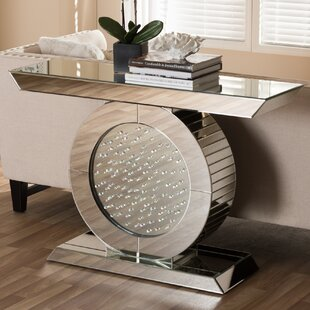 Review Spicer Hollywood Regency Glamour Style Mirrored Console Table By Ebern Designs