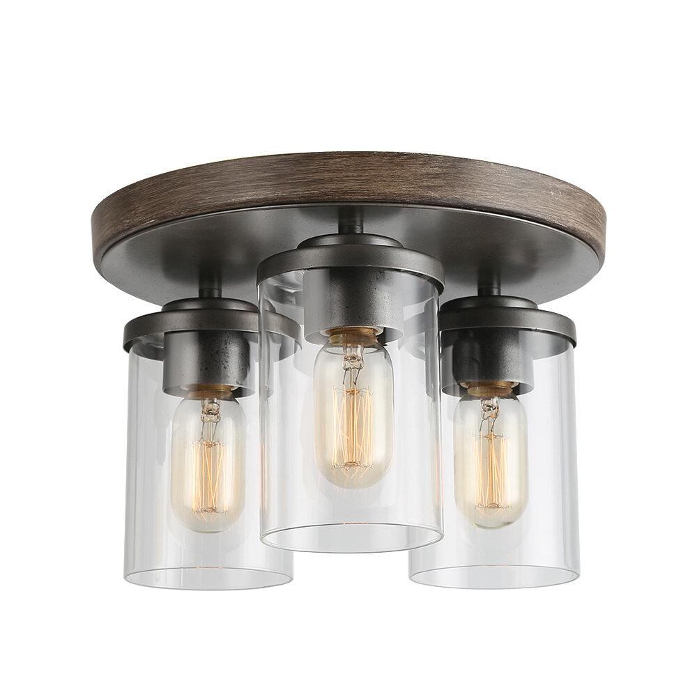 Gracie Oaks Urlingford 3 Light 12 Flush Mount Reviews Wayfair