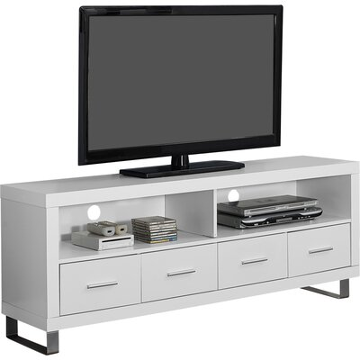 "Maner TV Stand for TVs up to 60"" Color: White by Brayden Studio"