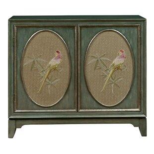 Bay Isle Home Callahan Fabric Panel Bar Cabinet