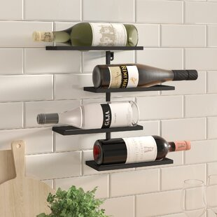 Beeney 4 Bottle Wall Mounted Wine Rack