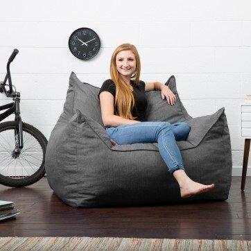 Outstanding Big Joe Lux Large Bean Bag Lounger Beatyapartments Chair Design Images Beatyapartmentscom