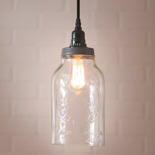 Gracie Oaks Juarez 1-Light Jar Pendant