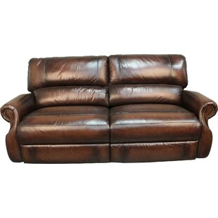 Hardcastle Leather Reclining Sofa Darby Home Co