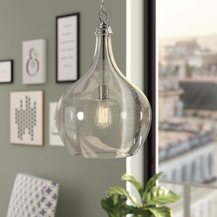Brayden Studio Bustillos 1-Light Teardrop Pendant
