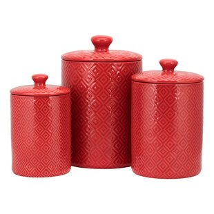 Red Kitchen Canisters & Jars You\'ll Love in 2019 | Wayfair.ca