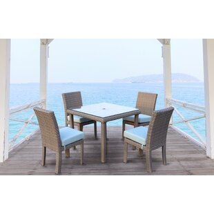 Rosecliff Heights Losey 5 Piece Dining Set with Cushion