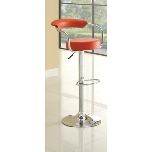 Claudel Adjustable Height Swivel Bar Stool Orren Ellis