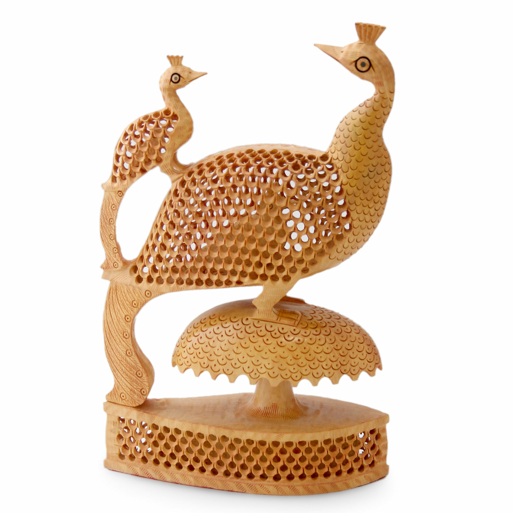World Menagerie Alfonsi Peacock Freedom Wood Figurine Wayfair