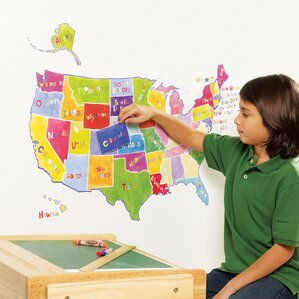 Travel Wall Decals Youll Love Wayfair - Us map wall decal