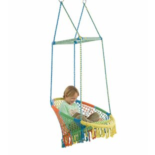 Hammock Chair with Woven Seat and Macrame Knots
