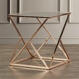 Ghita Glass Top Frame End Table by Willa Arlo Interiors