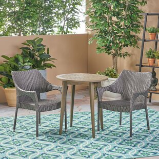 Wrought Studio HenselOutdoor 3 Piece Bistro Set