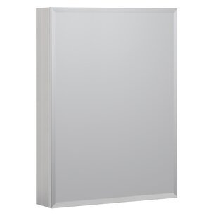 Reviews 23 x 30 Recessed or Surface Mount Frameless Medicine Cabinet with 3 Adjustable Shelves By Hazelwood Home