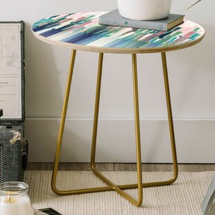 Iveta Abolina Cacti Stripe Round End Table by East Urban Home