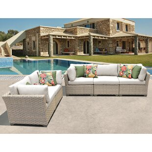 Monterey 5 Piece Sofa Seating Group with Cushions