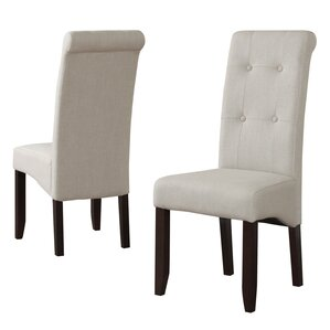Cosmopolitan Parsons Chair in Linen - Natural (Set of 2) by Simpli Home