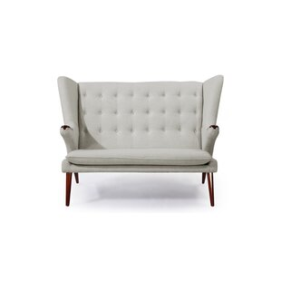 Bear Wegner Papa Wing Loveseat by Kardiel New