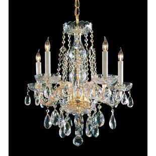 House of Hampton Milan 5-Light Candle Style Chandelier