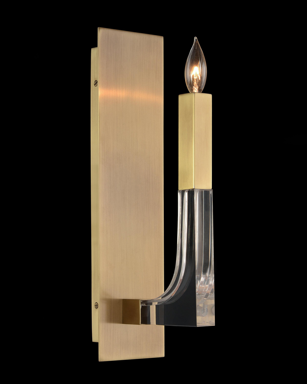 John Richard 1 Light Brass Candle Wall Light Wayfair