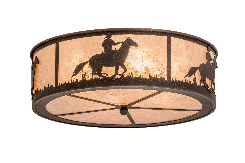 Meyda Tiffany Lone Cowboy 4 Light Outdoor Flush Mount Wayfair