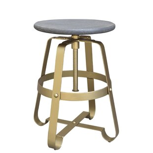 Siller Adjustable Height Swivel Bar Stool Wrought Studio