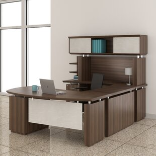 Mayline Group Sterling U-Shape Executive Desk with Hutch