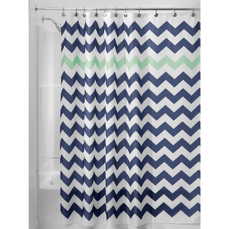 Chevron Shower Curtains interdesign chevron shower curtain & reviews | wayfair