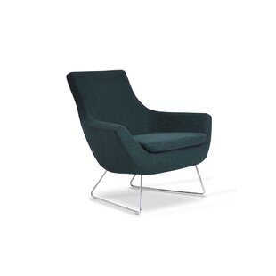 Engles Wool Lounge Chair by Orren Ellis