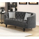 Fricke Chesterfield 64'' Recessed Arm Loveseat by One Allium Way®