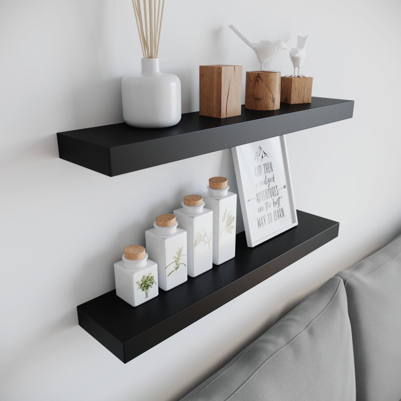Ballucci Modern Floating 2 Piece Wall Shelf Set Reviews Wayfair