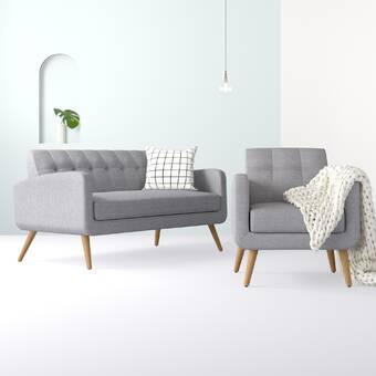 Hashtag Home Araceli 2 Piece Standard Living Room Set Wayfair Ca