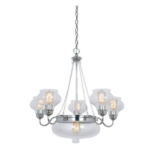 Three Posts Bateson 6-Light Shaded Chandelier