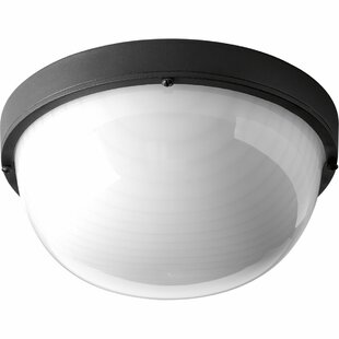 Krystn LED  Outdoor Flush Mount By Latitude Run Outdoor Lighting