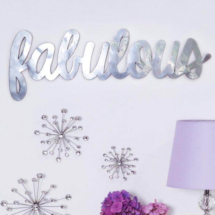 Metallic Fabulous Wall Décor