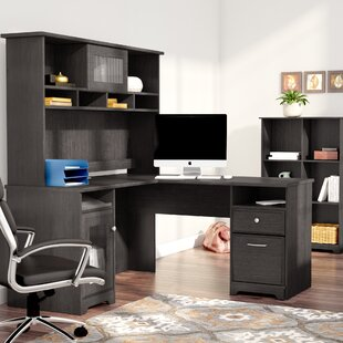 Hillsdale 3 Piece L-Shaped Desk Set with Hutch & Bookcase