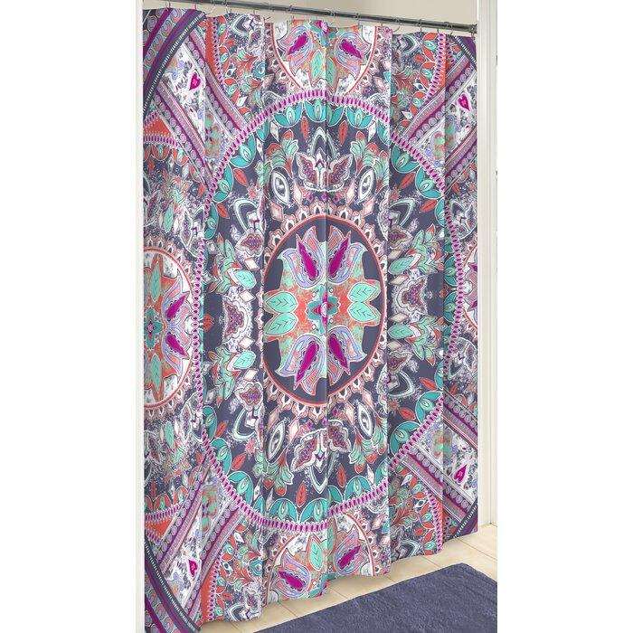 Verdell Boho Boutique Cotton Shower Curtain