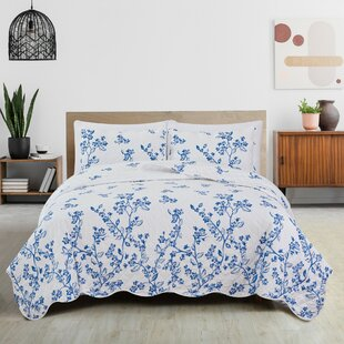 Cotton Blend Nature Floral Quilts Coverlets Sets You Ll Love In 2021 Wayfair