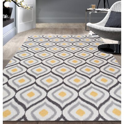 Walmsley Moroccan Grey Yellow Area Rug