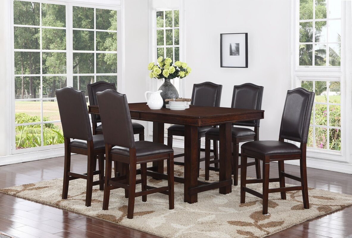 Manning 7 Piece Counter Height Dining Set