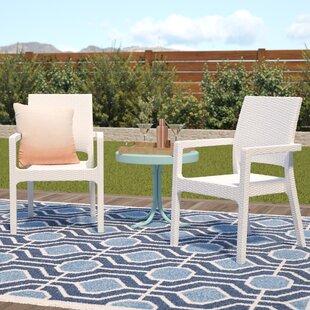 Brayden Studio Kesler Stacking Patio Dining Chair (Set of 2)