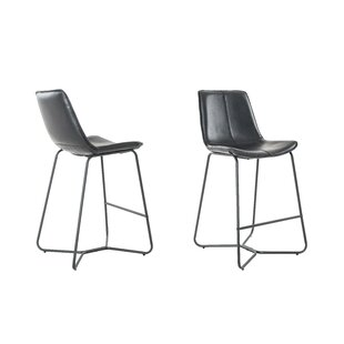 Sechrist Slope Upholstered 26 Bar Stool (Set of 2)