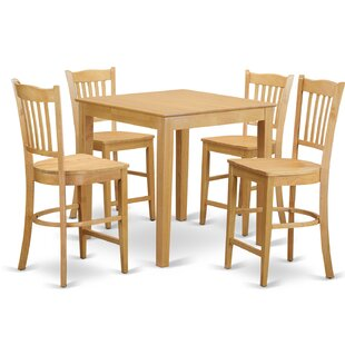 5 Piece Counter Height Pub Table Set by East West Furniture Coupon