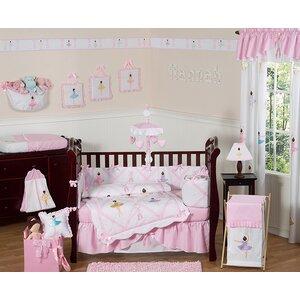 Ballerina 9 Piece Crib Bedding Set