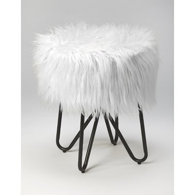 Everly Quinn Penrith Accent Stool Color: White